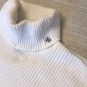 Ralph Lauren 100% Cotton White Turtle Neck